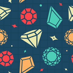 Vector Seamless Background Gems