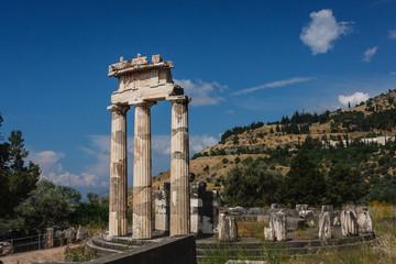 Ruins of the ancient Greek city of Delphi (Delfi), Greece