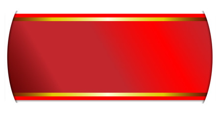Red And Gold Ribbon Banner