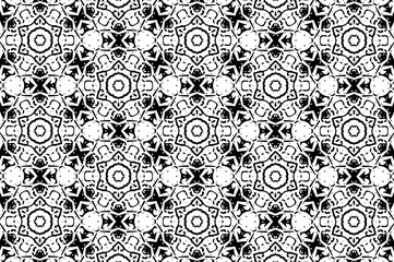 Ornament with black and white patterns. 3