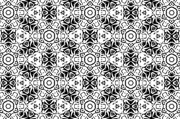 Ornament with black and white patterns. 2