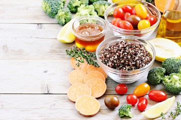 Superfood concept. Detox program ingredients.Healthy eating.