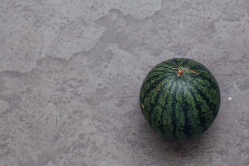Fresh watermelon  close up on the table