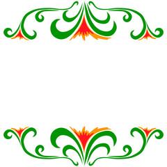 Vector doodle flowers frame