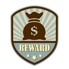 Reward retro label