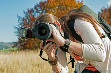Fotografin im Freien