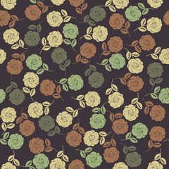 Perfect seamless pattern with stylish roses