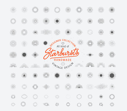 Huge starburst collection, perfect for retro logos
