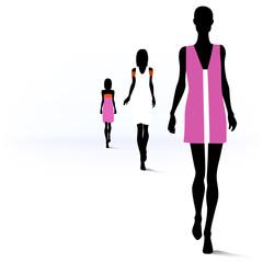 Women on the runway