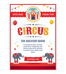 Cartoon circus poster