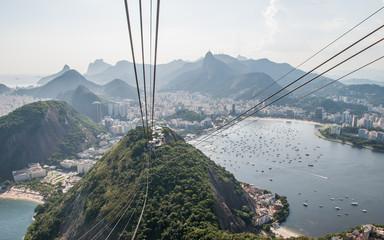 Cable car at Sugarloaf mountain, Rio de Janeiro, Brazil.