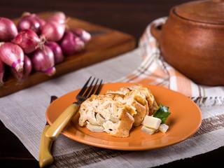 Artichoke bread pudding, Budin de alcachofas