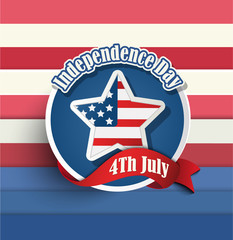 Fourth of july American independence day badges.