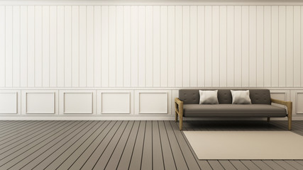 Sofa grey background classsic style wall floor grey wooden - 3d render