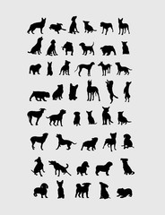 Dog Collection Silhouettes, art vector design