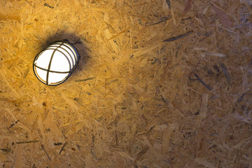 plywood ceiling and lighting