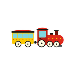 Train in amusement park icon