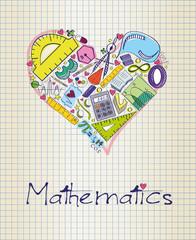 mathematics in shape of heart