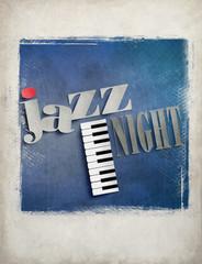 Jazz Night - Plakat Retro