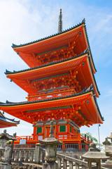 Part of Kiyomizu-dera Temple in Kyoto, Japan