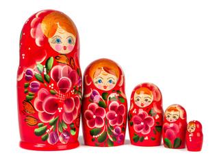 nesting dolls isolated