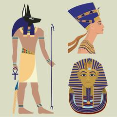 Egyptian culture.Vector set