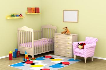The cozy interior of children's room