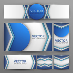 Set of vector banners with abstract background.