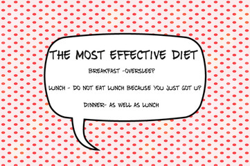 The most effective diet