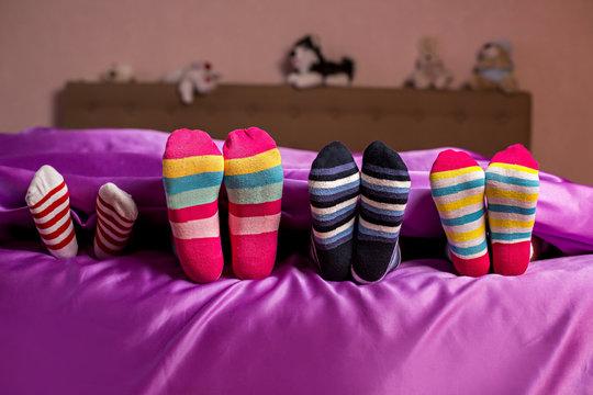 Kid's colorful bright socks.
