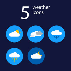 Set 5 weather flat icon