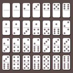 Flat domino set