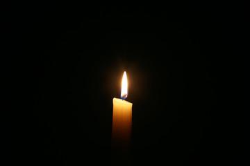 Burning wax candle
