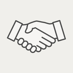 Handshake icon. Icon on cooperation in business.