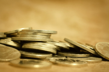 Gold money coins