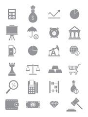 Gray economy icons set