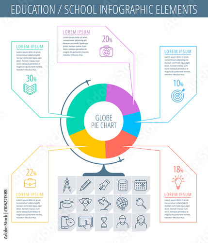 Infographic elements. Vector design template and education icon ...