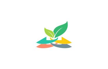 arrow technology leaf logo