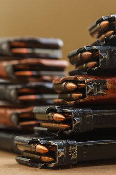 7.62 and 5.56 ammo for machine guns with loaded magazines