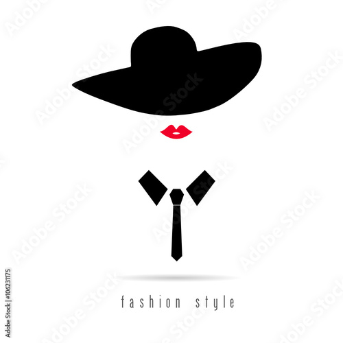 Girl Fashion Icon With Hat Illustration Stock Image And