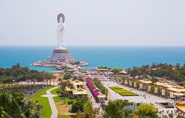 Quan Yin (goddess of mercy) in center of Buddhism of Sanya city, Hainan province, China.