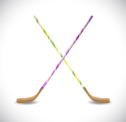 Hockey sticks. Illustration 10 version
