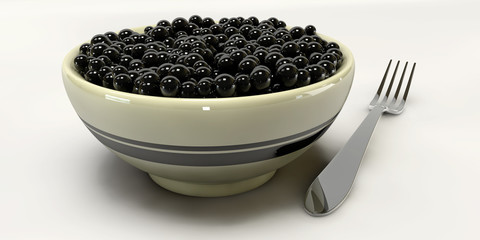 A 3d Caviar on a white backgrounds