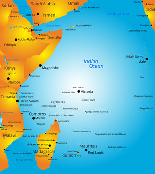 map of east Africa region