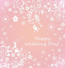 Beautiful wedding card