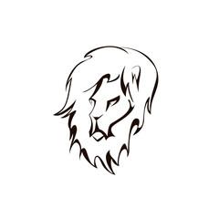 lion head. Company logo design