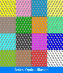 Optical illusions: Cubes