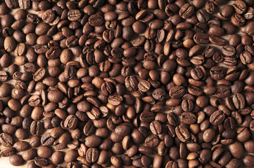 The background of coffee beans