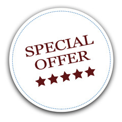 Special offer sale sign red sticker