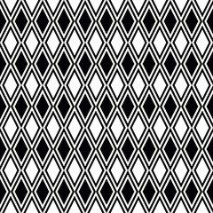 Seamless Pattern | Rhombuses | Black-and-White